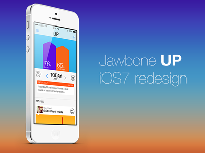Jawbone UP iOS7 redesign jawbone ios iphone ios7 redesign up app application iphone5