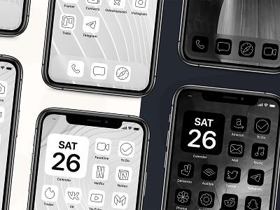 Iconic icon bundle iphone x iphone lines download gumroad iconset application app icon set dark theme dark ui ios14 ios icons icon