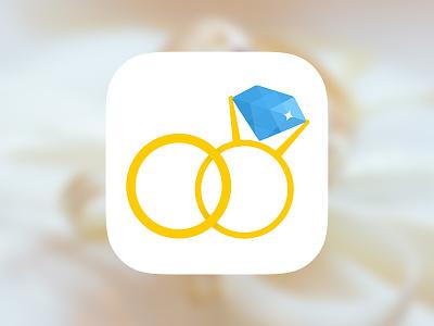 Wedding planner app icon ios app application icon ios7 diamond ring wedding