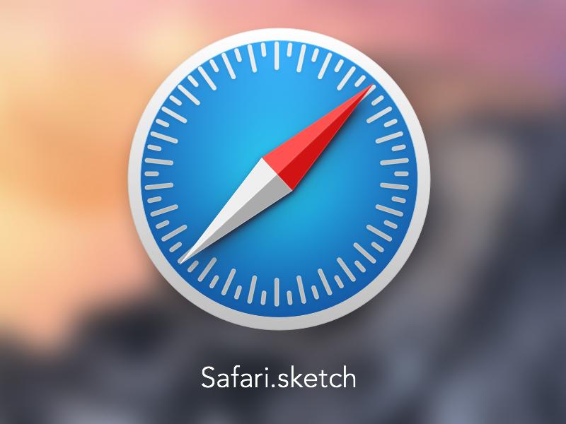 Safari Icon + Sketch source safari icon source sketch mac yosemite 10.10