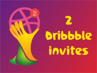 2 Dribbble Invites Cups