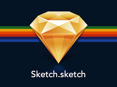 Sketch icon sketch icon source mac gem facet diamond yellow