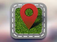 Icon for location based chat service for drivers