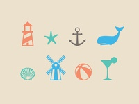 Long Island Beach Icons