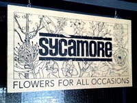Sycamore – Wooden Sign