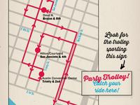 SXSW Party Trolley Map