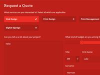 Quote Form Design