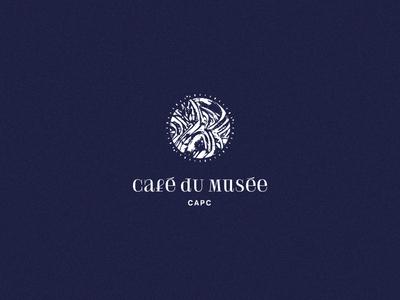 Café du Musée — CAPC Bordeaux restauration food branding typeface typography museum art logo logotype identity