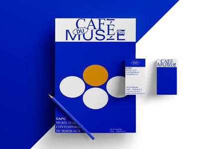 Café du Musée CAPC (Unreleased) restauration food branding typeface typography museum art logo logotype identity