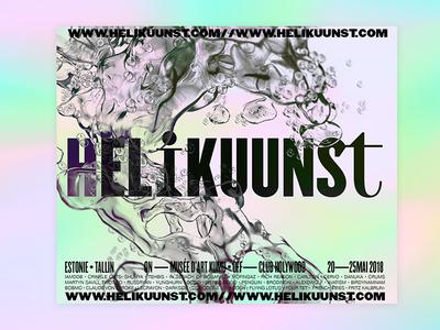 Helikuunst — Festival in Tallin exploration music festival 3d food branding typeface typography logo logotype identity