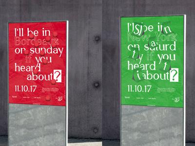 Slantit typeface — Poster poster shadow type letter street design lettering identity branding typeface typography
