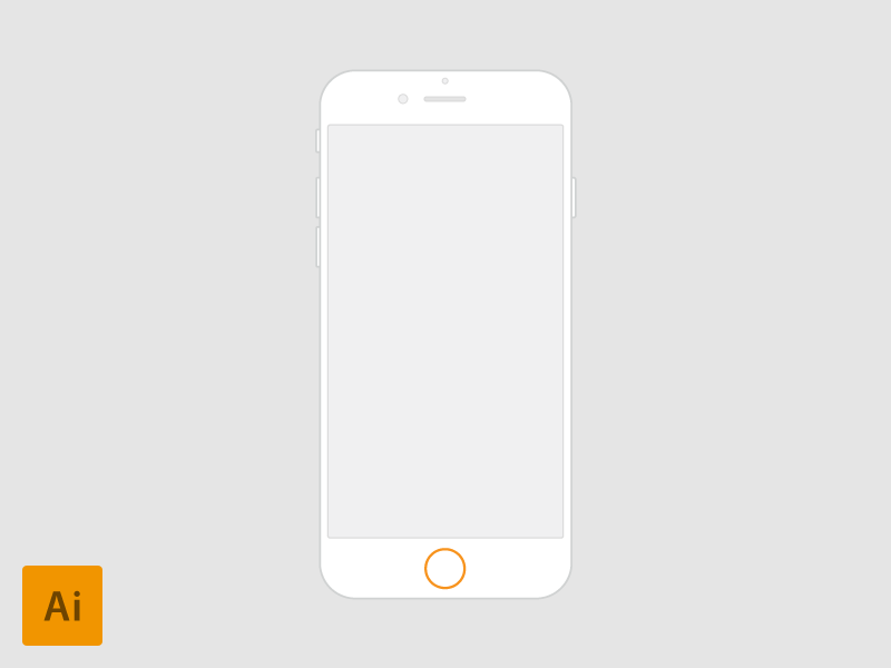 iPhone 6 - 4.7'' vector for Wireframes wireframes iphone 6 vector ux flow process user experience