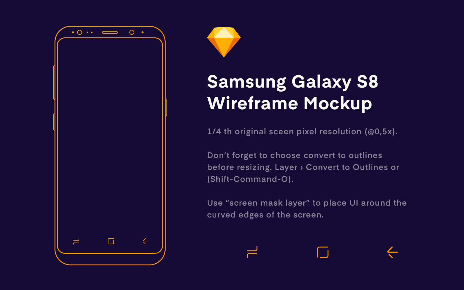 Samsung s8 wireframe presentation
