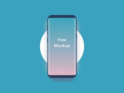 Minimal Samsung S8 Mockup galaxy dark android free s8 samsung vector sketch mockup minimal freebie clean