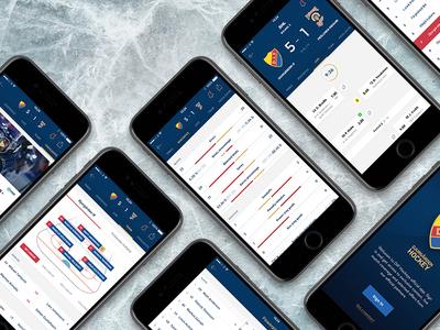 Djurgården Hockey login feed lineup statistics team sport hockey presentation ios user interface ui app