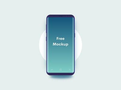 Samsung S8 Semi Minimal Sketch Mockup clean freebie minimal mockup sketch vector samsung s8 free android dark galaxy