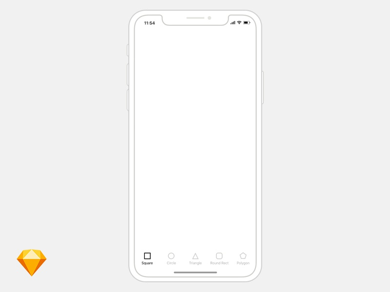 Printable iphone wireframe for app and web designers inspiration hut.
