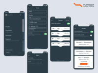 Flytoget monochromatic profile menu
