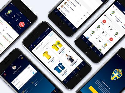 SvFF App Concept football shop splash cart product ecommerce ui ux filter profile fixtures match