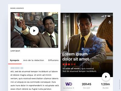TV program designer app tv tv program tv movie app tv shows movie app ios conception ui ux