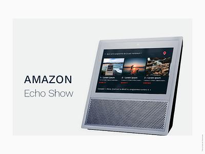 Echo Show programtv movie tv amazon voice voice assistant designer ui ux