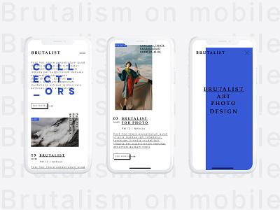 Brutalism On Mobile typography mobile brutalist brutalism design ui ux design app ios app conception
