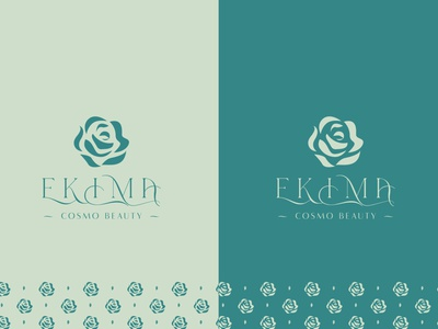 EKIMA COSMO BEAUTY design trademark luxury monogram mark identity new agency luxe branding brand