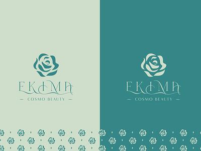 EKIMA COSMO BEAUTY design trademark luxury monogram mark identity new agency luxe branding brand