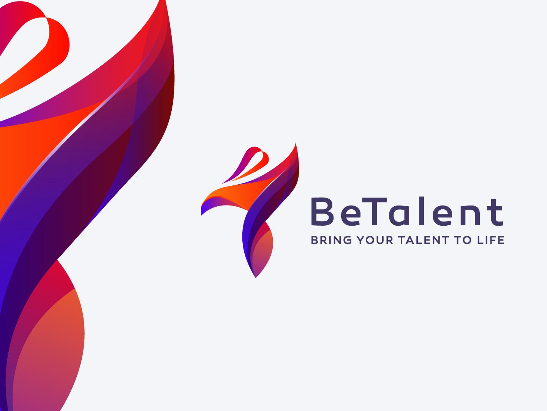 Betalent Logo logo typography vector illustration color blue beauty abstract construction marketing design trademark monogram mark luxury identity new agency branding brand