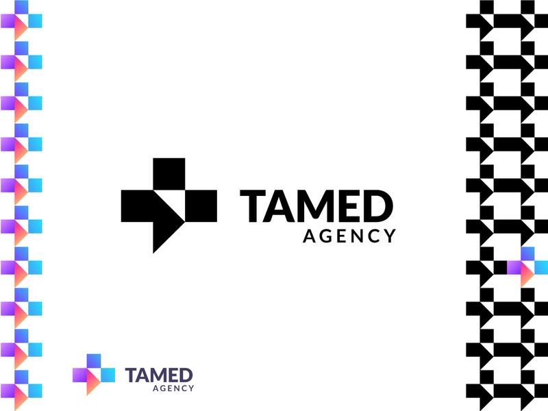 TAMED AGENCY brand monogram luxury mark identity new agency luxe branding brand logo
