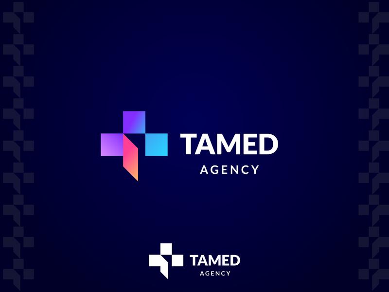 TAMED AGENCY   barnd marketing abstract trademark monogram luxury identity agency branding brand logo
