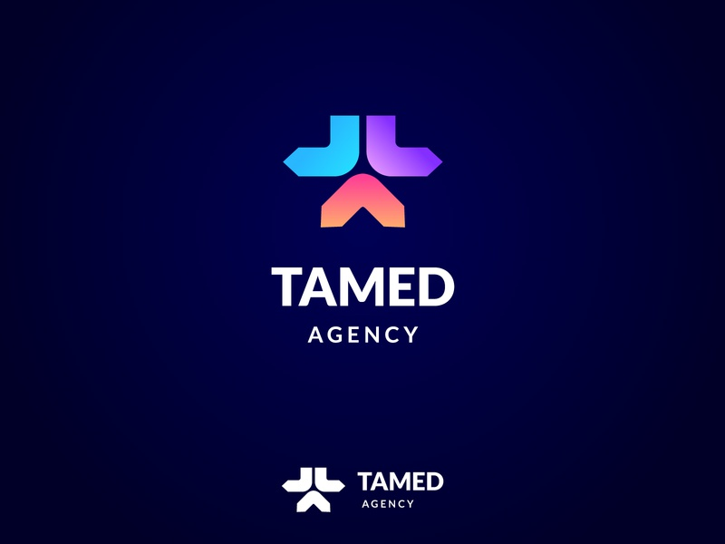 TAMED AGENCY design luxury trademark monogram mark identity agency branding brand logo