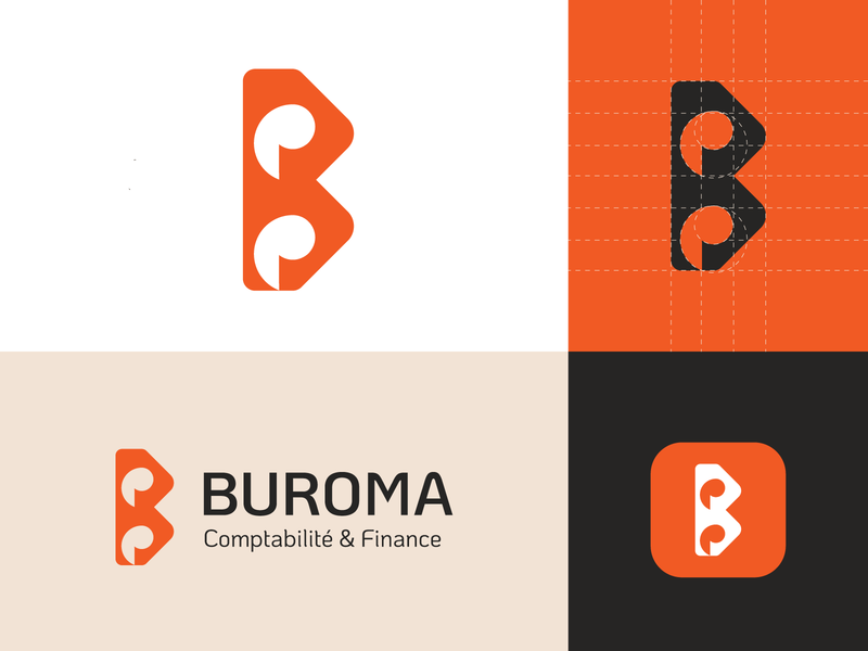 buroma brand finance financial finance business bureau finance trademark monogram mark identity agency branding brand logo