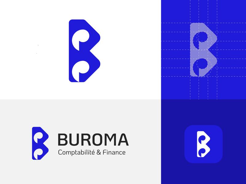 buroma final morocco marketing trademark monogram mark identity agency branding brand logo