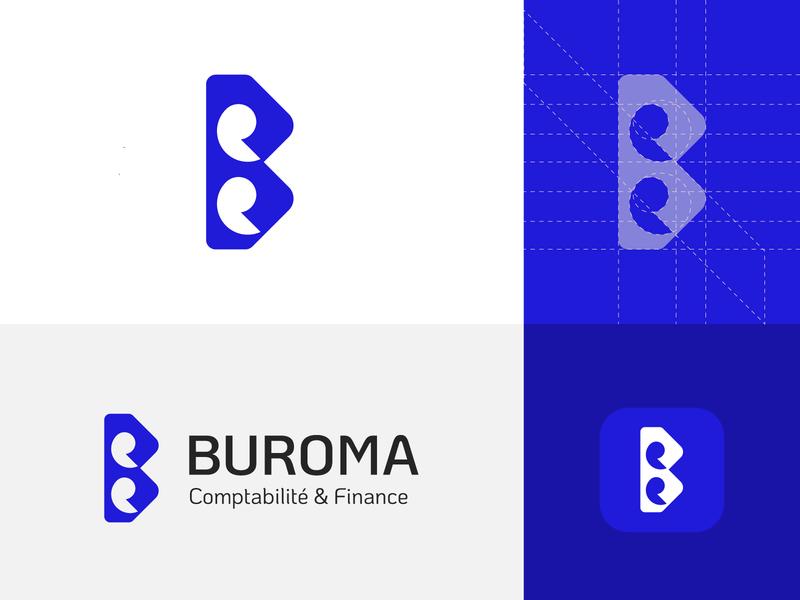 buroma final logo mark new trademark monogram mark identity agency luxe branding brand logo