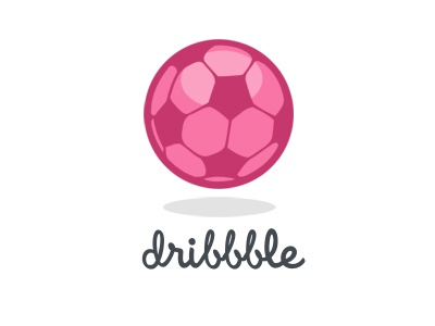 Dribbble Soccer Ball logo icon dribbble soccer football pink