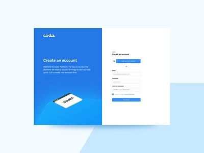 Coda Website website webdesign ux design ui
