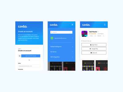 Coda Mobile ux responsive website webdesign website app design ui