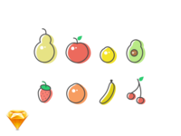 Fruit Icons / Sketch