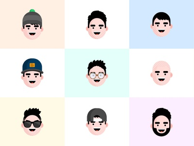 Avatars characters drawing character flat sketch illustration avatar