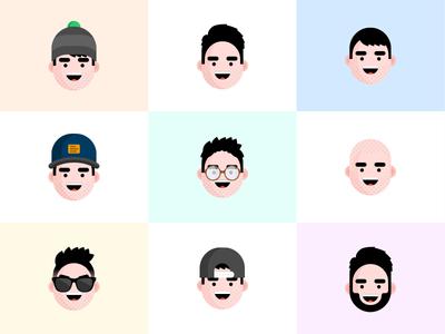 Avatars characters drawing character flat sketch illustration avatar