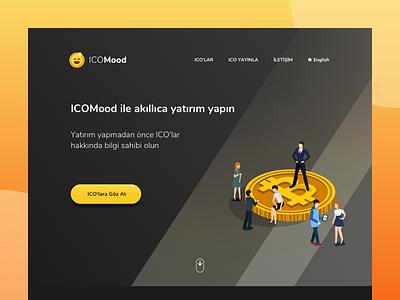 ICOMood Landing bitcoin landing page ux ui website ico