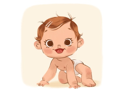 Baby photoshop childrens illustration character baby illustration
