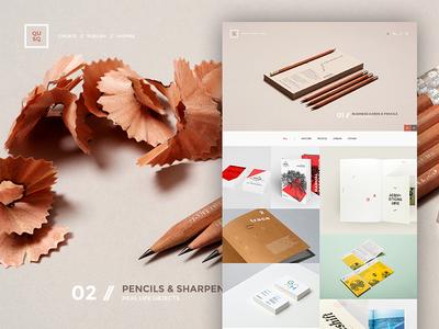 QUSQ portfolio typography minimal fullwidth bold clean simple