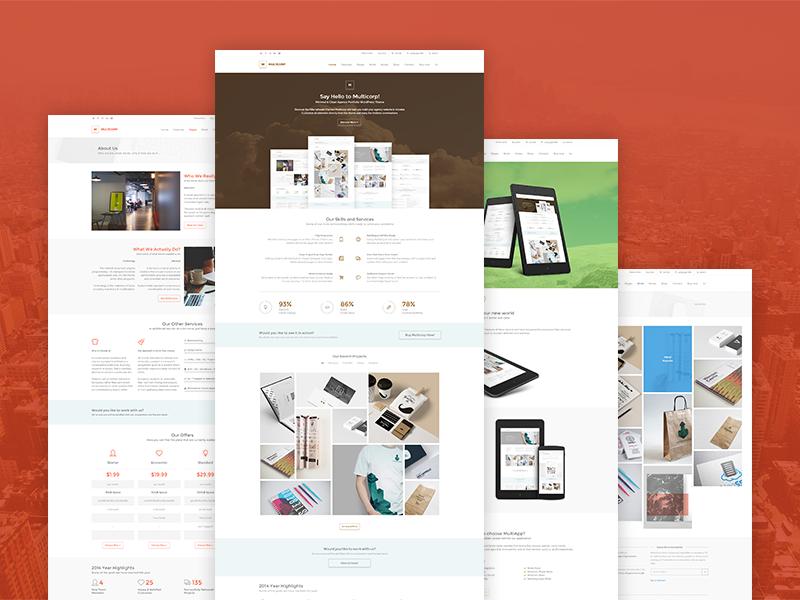 Multicorp WP - Clean Business WordPress Theme business clean typography decent corporate freelance portfolio creative