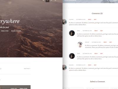 Kopy typography blog post detail header fullwidth comments related
