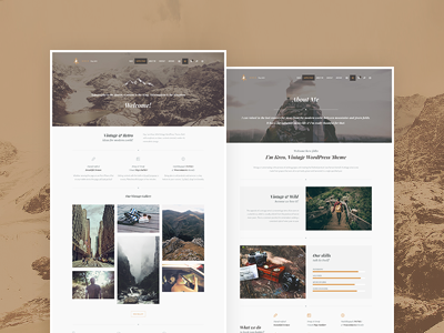 Wildster WP - Wild Vintage WordPress Theme photography photo gallery portfolio blogging retro magazine blog travel vintage wild