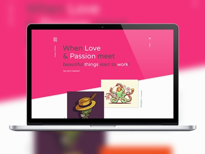 Qusq HTML - Colorful Unique Portfolio responsive portfolio photography parallax modern freelancer flat designer design colorful blog agency