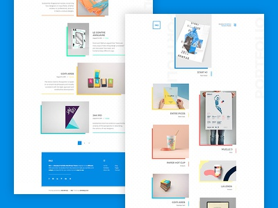 INU blog funky colorful flat creative portfolio