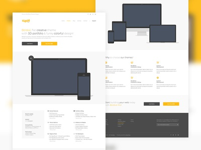 IshYoBoy.com - Theme detail yellow simple minimal clean mockups detail portfolio wordpress theme